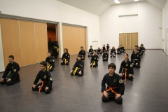Za-zen bij het begin van de les