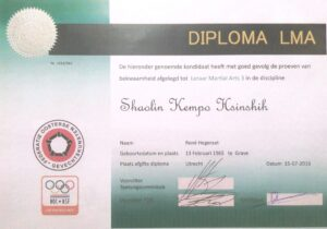 LMA Shaolin Kempo Hsinshih